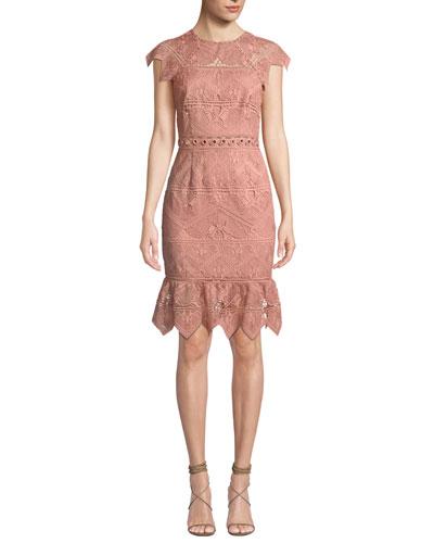 Joah Scalloped Lace Dress