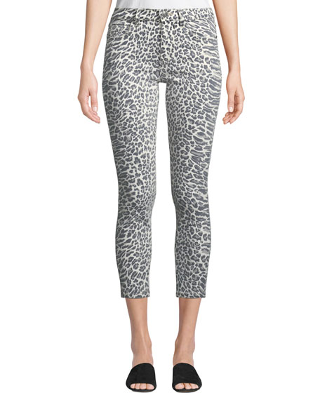 The Stiletto Leopard-Print Skinny Jeans