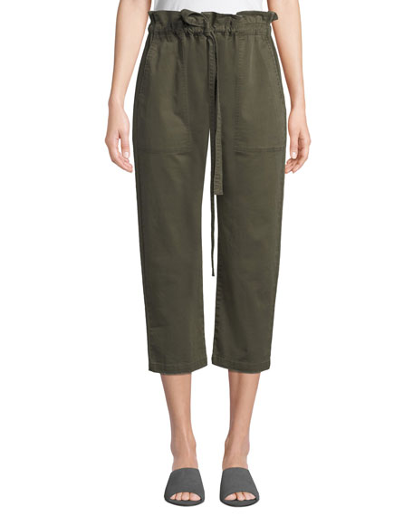 Current/Elliott Tabloid Cropped Paperbag Pants