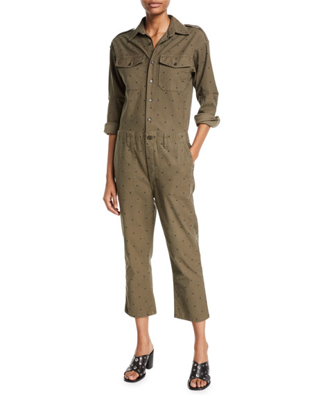 Current/Elliott The Crew Dot-Print Jumpsuit
