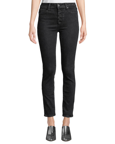 Hoxton Ankle Skinny Jeans with Button Fly