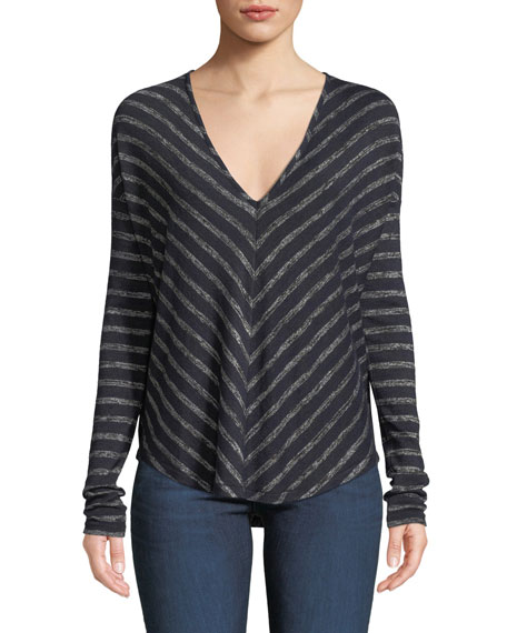 rag & bone/JEAN Hudson Striped Long-Sleeve T-Shirt