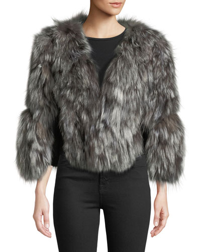 Fox Fur Jacket w/ Leather Inserts