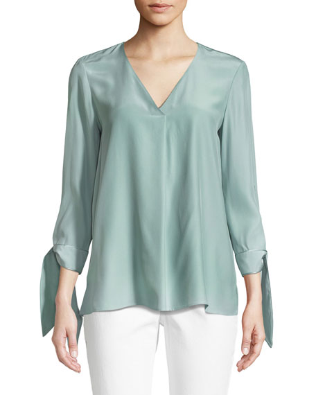 Blair Matte Silk Blouse