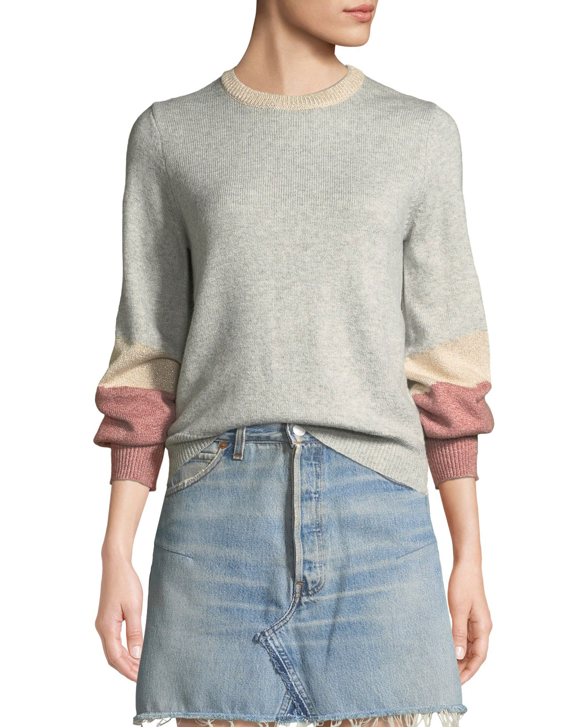 8c2fa11891 Cupcakes and Cashmere Greenville Bishop-Sleeve Crewneck Sweater ...