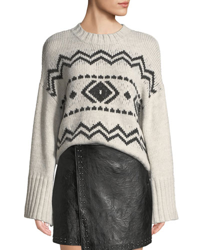 Harden Jacquard Graphic Pullover Sweater