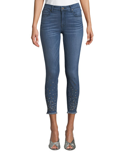 Ava Skinny Repaired Ankle Jeans