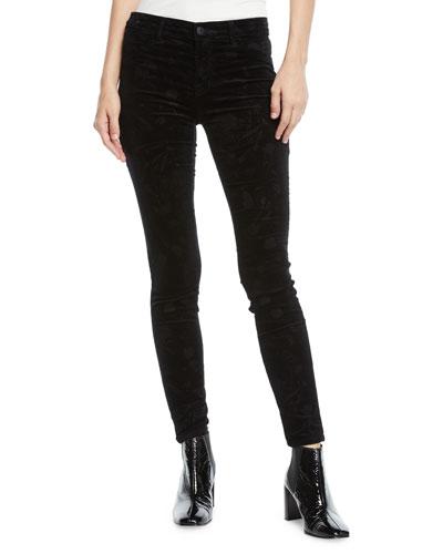 815 Mid-Rise Velvet Skinny Ankle Jeans