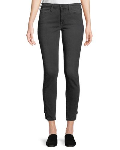 Le Skinny Skinny-Leg Ankle Pants w/ Step Hem