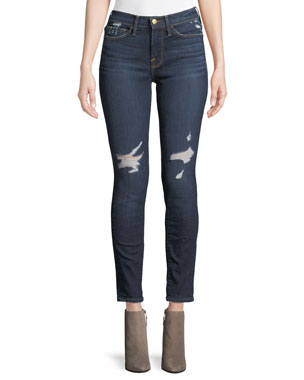 3fc1005eb4cd FRAME Le Skinny De Jeanne Skinny-Leg Ankle Jeans