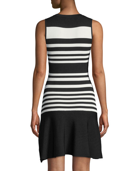 Penny Striped Knit Sleeveless Dress
