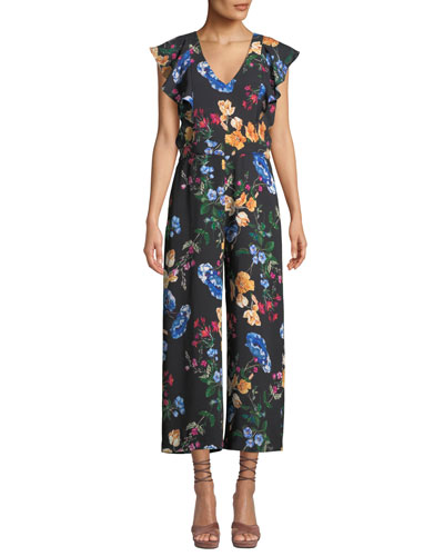 Tommi Floral Ruffle Combo Jumpsuit