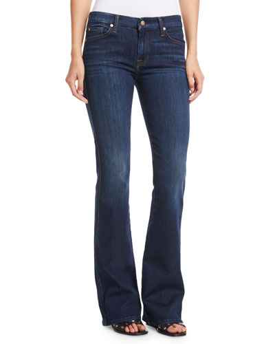 'A' Pocket Boot-Cut Jeans
