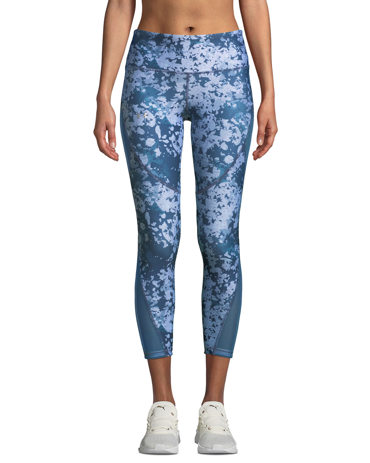84d0fbdb26f8 Under Armour HeatGear Printed Cropped Performance Leggings