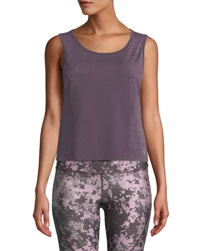 Cropped Scoop-Neck Activewear Muscle Tank