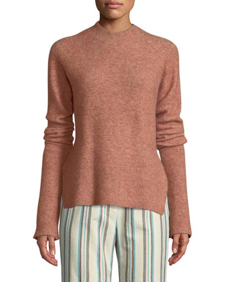 3.1 Phillip Lim Long-Sleeve Lofty Rib Alpaca-Blend Pullover
