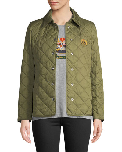 Franwell Embroidered Crest Quilted Jacket