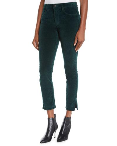 Higher Ground Cropped Corduroy Pants with Split Hem