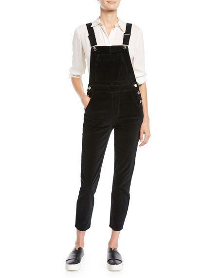 Ruby Stretch-Denim Overalls in Ebony