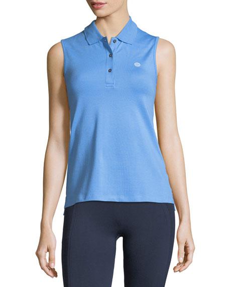 Tory Sport Performance Pique Sleeveless Polo Shirt