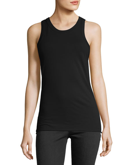 AG Adriano Goldschmied Lexi High-Neck Cotton Tank Top