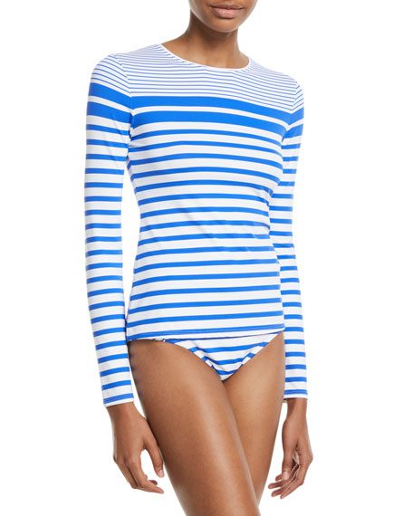 Tommy Bahama Beachglass Striped Swim Rashguard Shirt