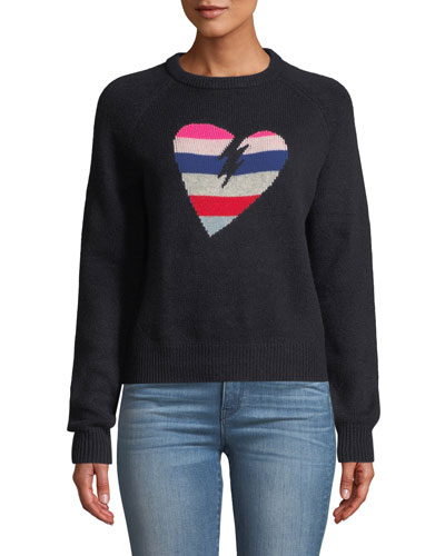 Baly Graphic Cashmere Pullover Sweater