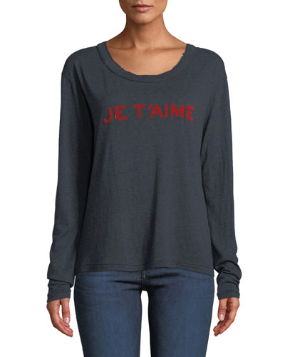 Willy Chine Scoop-Neck Long-Sleeve Tee