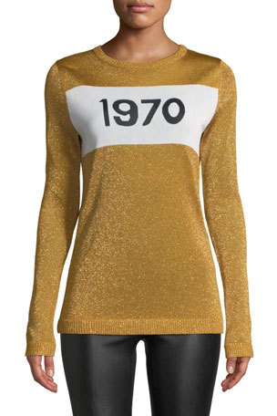 Bella Freud 1970 Sparkle Graphic Sweater