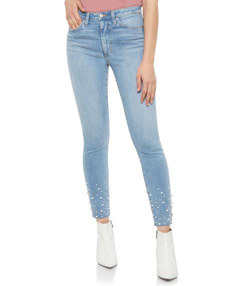 Charlie Embellished Ankle Skinny Jeans In Sisley in Sisely