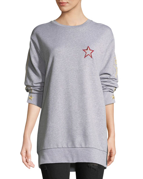 Bella Freud Lucky Jim Embroidered Crewneck Sweatshirt
