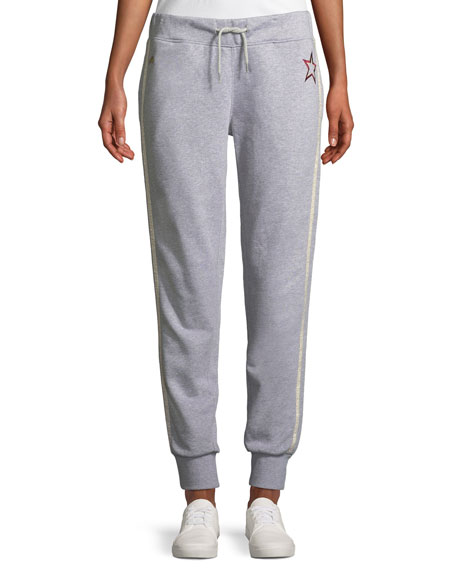 Bella Freud Lucky Jim Side-Stripe Jogger Track Pants