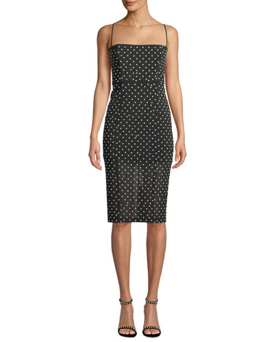 Sophie Bodycon Polka-Dot Dress