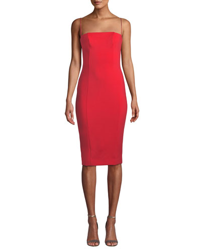 Sophie Body-Con Sleeveless Scuba Dress
