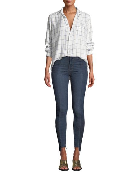 Barbara High-Rise Skinny Step-Hem Ankle Jeans - Enhance Denim
