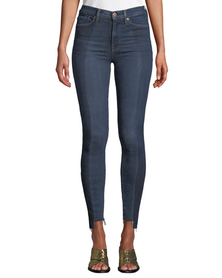 Hudson Barbara High-Rise Skinny Step-Hem Ankle Jeans -