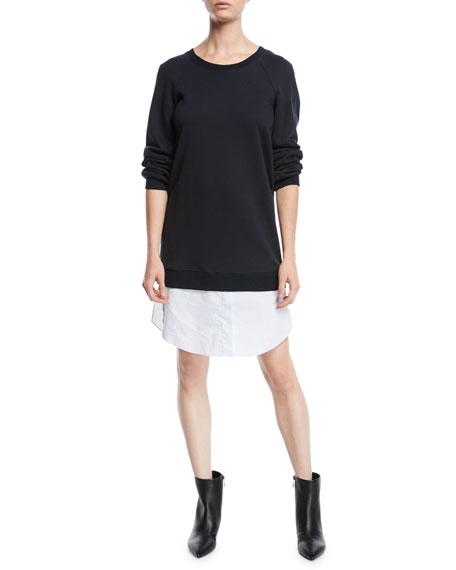 Derek Lam 10 Crosby Crewneck Sweatshirt Dress with
