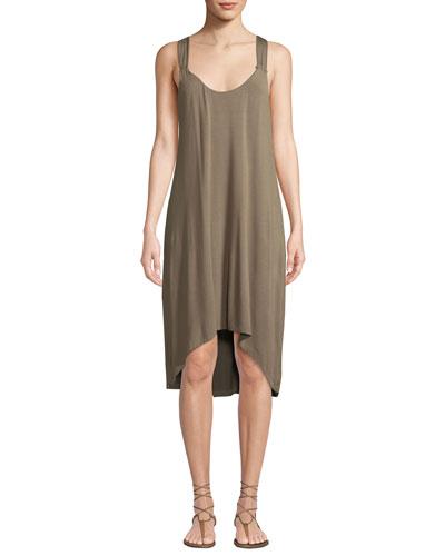Lamu Twist-Back Tank Dress