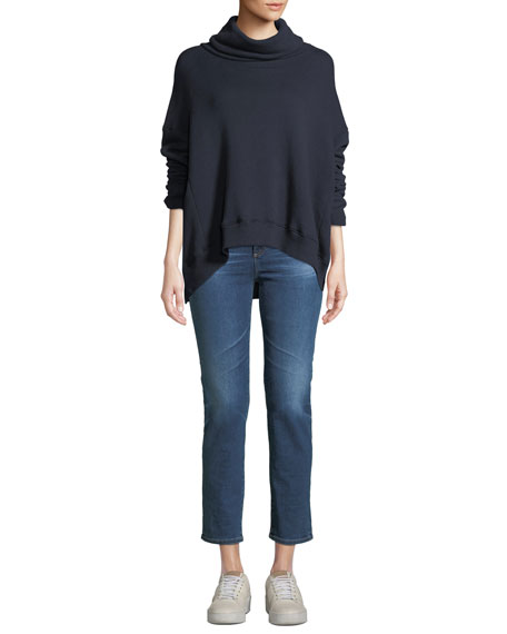 Isabelle High-Rise Cropped Straight-Leg Jeans