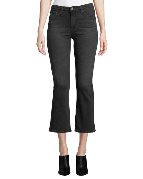 AG Adriano Goldschmied Jodi High-Rise Cropped Flare-Leg Jeans