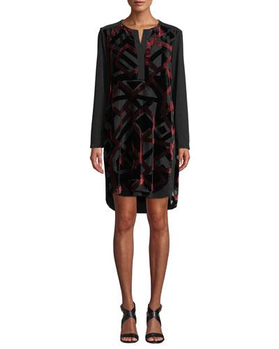 Kenzie Velvet Devore Dress