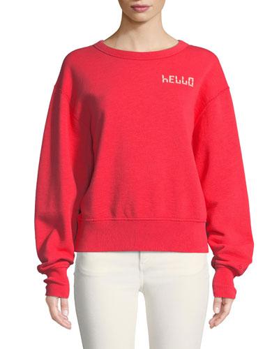 Hello Terry Pullover Sweatshirt