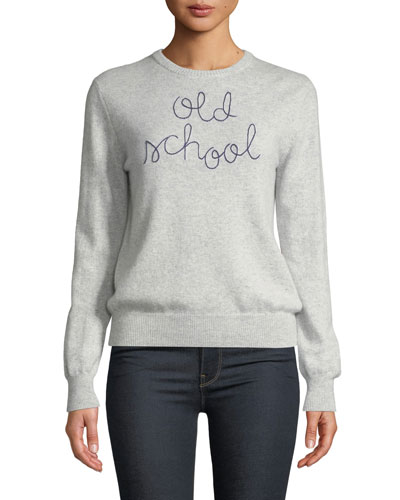 Old School Embroidered Cashmere Sweater