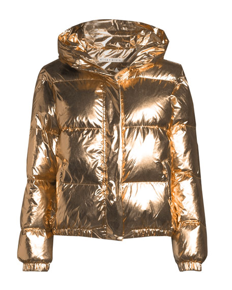 Durham Hooded Metallic Puffer Jacket