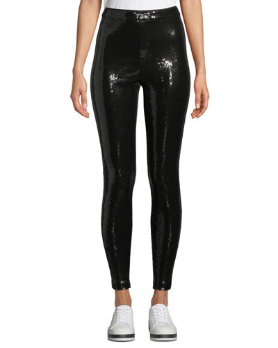 Zendaya Sequin Pull-Up Leggings