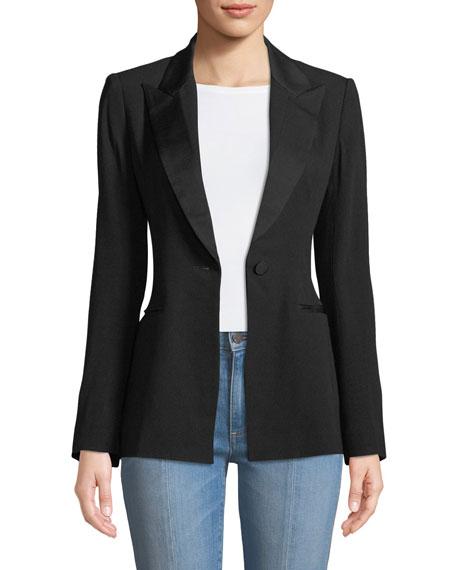 Diane von Furstenberg Open-Back Blazer Jacket
