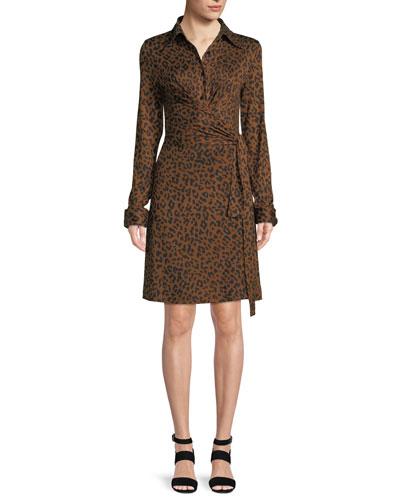 Didi Side-Tie Leopard-Print Dress