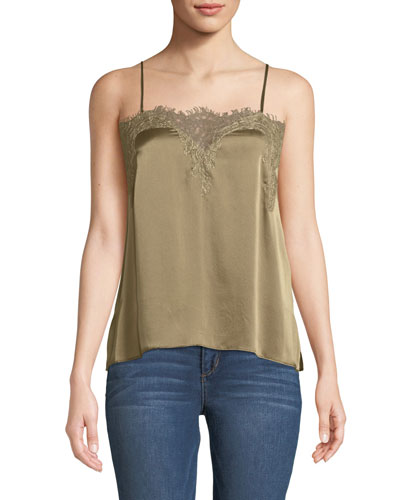 The Sweetheart Charmeuse Cami with Lace