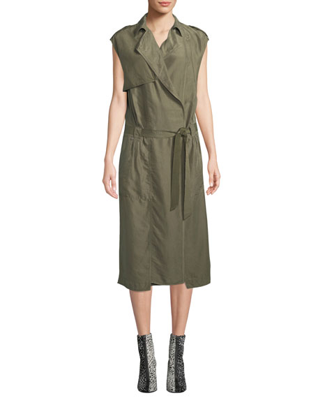 Rag & Bone Bailee Sleeveless Trench Midi Dress
