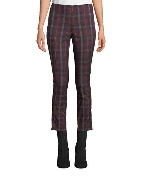 Rag & Bone Simone Cropped Skinny Plaid Trousers